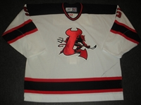Fraser, Mark<br>White Set 2<br>Lowell Devils 2006-07<br>#5 Size: 58