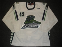Thelen, A.J<br>White Set 1<br>Florida Everblades 2008-09<br>#49 Size: 56