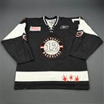 Korchinski, Chris<br>Black Set 1<br>Las Vegas Wranglers 2008-09<br>#12 Size: 56