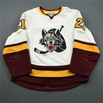Motzko, Joe<br>White<br>Chicago Wolves 2008-09<br>#21 Size: 54