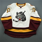 Skinner, Brett<br>White<br>Chicago Wolves 2008-09<br>#27 Size: 56