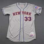Harvey, Matt * <br>Gray w/All-Star Game Patch, Worn April 13, 2013<br>New York Mets 2013<br>#33 Size: 48 + 2