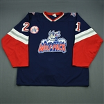 Sweeney, Tim * <br>Blue, Inaugural Game Patch October 3, 1997<br>Hartford Wolf Pack 1997-98<br>#21 Size: XXL