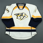 Bouillon, Francis<br>White Set 1<br>Nashville Predators 2011-12<br>#51 Size: 54