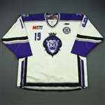 Caruana, Matt<br>White Set 1 w/ 10th Anniversary Patch<br>Reading Royals 2010-11<br>#19 Size: 56