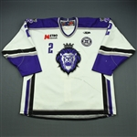Donald, Ryan<br>White Set 1 w/ 10th Anniversary Patch<br>Reading Royals 2010-11<br>#2 Size: 56