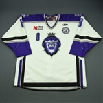Goulet, Alain<br>White Set 1 w/ 10th Anniversary Patch<br>Reading Royals 2010-11<br>#8 Size: 56