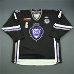 Haines, Casey<br>Black Set 1 w/ 10th Anniversary Patch<br>Reading Royals 2010-11<br>#6 Size: 54