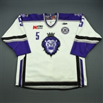Liotti, Louis<br>White Set 1 w/ 10th Anniversary Patch<br>Reading Royals 2010-11<br>#5 Size: 56