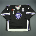 Liotti, Louis<br>Black Set 1 w/ 10th Anniversary Patch<br>Reading Royals 2010-11<br>#5 Size: 56