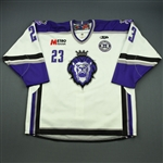 Riendeau, Yannick<br>White Set 1 w/ 10th Anniversary Patch<br>Reading Royals 2010-11<br>#23 Size: 56