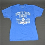 Phaneuf, Dion, Rielly, Morgan & van Riemsdyk, Jame<br>Hockey Fights Cancer Mens Old Time Hockey Media T<br>Toronto Maple Leafs 2015-16<br>#3, 44, 21 Size: Large