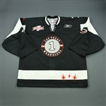 OKeefe, Mitch<br>Black Kelly Cup Finals (Back-Up Only)<br>Las Vegas Wranglers 2011-12<br>#1 Size: 58G