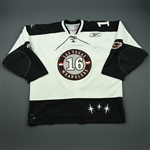 Huddy, Ryan<br>White Set 1 (A removed)<br>Las Vegas Wranglers 2010-11<br>#16 Size: 56