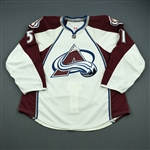 Fritsche, Tom<br>White Set 1 - Game-Issued (GI)<br>Colorado Avalanche 2010-11<br>#51 Size: 56