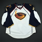 Lehtonen, Kari<br>White Set 3 w/All-Star Patch (RBK 2.0)<br>Atlanta Thrashers 2007-08<br>#32 Size: 58G