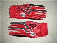 Nicks, Hakeem * <br>Red and Black Gloves, Autographed and Inscribed<br>New York Giants 2012<br>#88