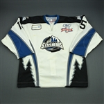Dickson, John-Scott<br>White Kelly Cup Finals - Game 1 & 2<br>Idaho Steelheads 2009-10<br>#15 Size:56