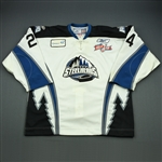 Dawson, Aaron<br>White Kelly Cup Finals - Game 2<br>Idaho Steelheads 2009-10<br>#24 Size:56