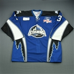 Blatchford, Brett<br>Blue Kelly Cup Finals - Game 4<br>Idaho Steelheads 2009-10<br>#3 Size:56