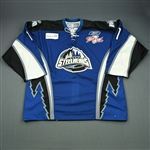 Kushniruk, Brandan<br>Blue Kelly Cup Finals - Game 3 & 4<br>Idaho Steelheads 2009-10<br>#11 Size:56