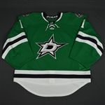 Campbell, Jack<br>Green Set 1 - Back-Up Only<br>Dallas Stars 2015-16<br>#1 Size: 58G