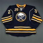 Grigorenko, Mikhail * <br>Navy Set 1 - Photo-Matched<br>Buffalo Sabres 2013-14<br>#25 Size: 56