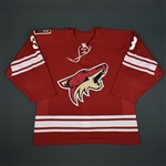 Yandle, Keith * <br>Red - Training Camp Only<br>Phoenix Coyotes 2006-07<br>#3 Size: 54