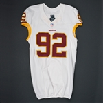 Baker, Chris<br>White Regular Season<br>Washington Redskins 2015<br>#92 Size: 46 LINE
