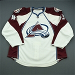 Gaunce, Cameron<br>White Set 2 - NHL Debut<br>Colorado Avalanche 2010-11<br>#43 Size: 58
