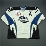 Forsyth, Blake<br>White Set 1 w/A w/Kelly Cup Patch<br>Idaho Steelheads 2007-08<br>#17 Size: 56