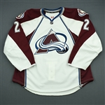 Chouinard, Joel<br>White Set 1 - Game-Issued (GI)<br>Colorado Avalanche 2012-13<br>#2 Size: 56