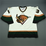 Fadden, Mitch<br>White Set 1  (A removed)<br>Utah Grizzlies 2011-12<br>#13 Size:56