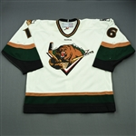 Favot, Andrew<br>White Set 1<br>Utah Grizzlies 2011-12<br>#16 Size: 56