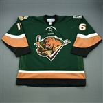 Favot, Andrew<br>Green Set 1<br>Utah Grizzlies 2011-12<br>#16 Size: 56