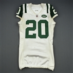 Wilson, Kyle<br>White, worn Dec. 4, 2011 at Washington<br>New York Jets 2011<br>#20 Size: 42
