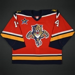 Hagman, Niklas * <br>Red Set 2 w/ All-Star Game patch<br>Florida Panthers 2002-03<br>#14 Size: 56