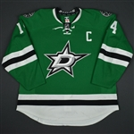 Benn, Jamie<br>Green Set 2 w/C<br>Dallas Stars 2015-16<br>#14 Size: 58