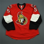 Gonchar, Sergei<br>Red Set 1<br>Ottawa Senators 2010-11<br>#55 Size: 56