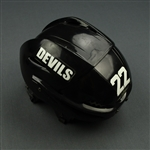 Boulton, Eric<br>Black Easton Helmet<br>New Jersey Devils 2011-12<br>#22