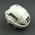 Boulton, Eric<br>White Easton Helmet<br>New Jersey Devils 2011-12<br>#22