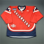 Clarke, Aaron<br>Red Kelly Cup Finals - Game 1 & 2<br>Kalamazoo Wings 2010-11<br>#7 Size: 54