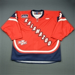 Fournier, Andrew<br>Red Kelly Cup Finals - Game 1 & 2<br>Kalamazoo Wings 2010-11<br>#9 Size: 56