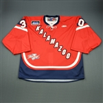 Gill, Riley<br>Red Kelly Cup Finals - Game 1 & 2<br>Kalamazoo Wings 2010-11<br>#30 Size: 58G