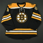 Arnesson, Linus<br>Black Set 1 - Preseason Only<br>Boston Bruins 2016-17<br>#49 Size: 56