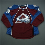 Cumiskey, Kyle<br>Burgundy Set 3 - Game-Issued (GI)<br>Colorado Avalanche 2010-11<br>#10 Size: 54