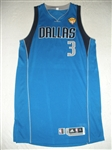 Beaubois, Rodrigue * <br>Blue Finals Game-Issued (GI)<br>Dallas Mavericks 2010-11<br>#3 Size: XL+4
