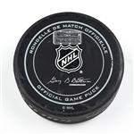 Columbus Blue Jackets Game-Used Puck<br>December 12, 2015 vs. New York Islanders (Blue Jackets Logo)<br>Columbus Blue Jackets 2015-16