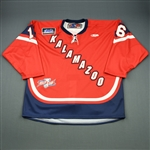 Charlebois, Joe<br>Red Kelly Cup Finals - Game 1 & 2 - Game-Issued<br>Kalamazoo Wings 2010-11<br>#16 Size:58