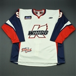 Fournier, Andrew<br>White Kelly Cup Finals - Game 3 & 4<br>Kalamazoo Wings 2010-11<br>#9 Size: 56